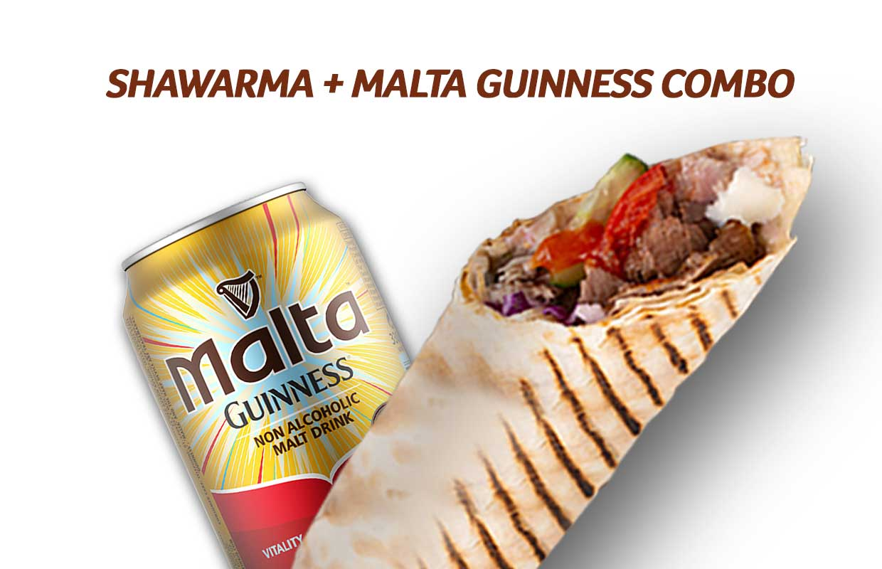 Shawarma and Malt Offer